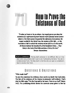 How to Prove the Existence of God