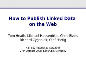 How to Publish Linked Data on the Web
