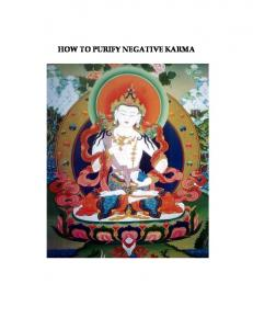 HOW TO PURIFY NEGATIVE KARMA