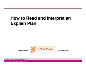 How to Read and Interpret an Explain Plan