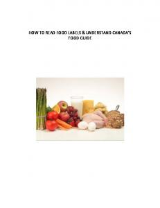HOW TO READ FOOD LABELS & UNDERSTAND CANADA S FOOD GUIDE