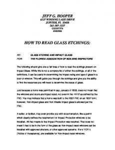HOW TO READ GLASS ETCHINGS: