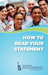 HOW TO READ YOUR STATEMENT