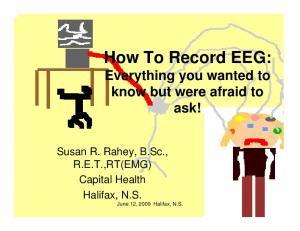 How To Record EEG: Everything you wanted to know but were afraid to ask!