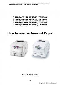 How to remove Jammed Paper