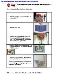 How to Remove the Guardian Burner Access Door -1
