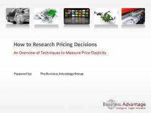 How to Research Pricing Decisions