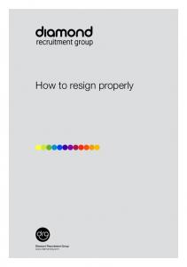 How to resign properly
