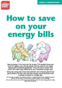 How to save on your energy bills