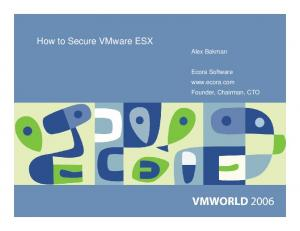 How to Secure VMware ESX