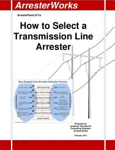 How to Select a Transmission Line Arrester