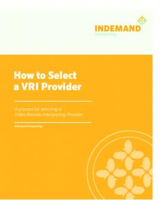 How to Select a VRI Provider