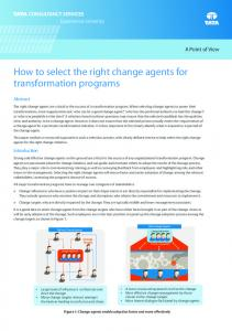 How to select the right change agents for transformation programs
