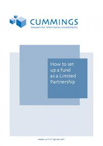 How to set up a fund as a Limited Partnership