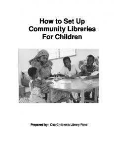 How to Set Up Community Libraries For Children