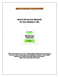 How To Set-Up Your Networks For Your Website or URL