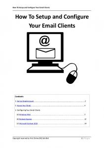 How To Setup and Configure Your  Clients
