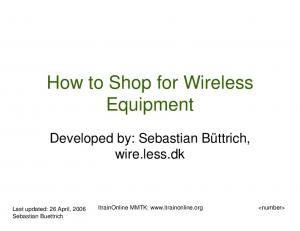 How to Shop for Wireless Equipment