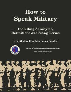 How to Speak Military