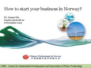 How to start your business in Norway?