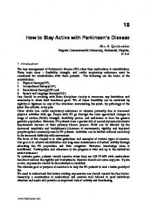 How to Stay Active with Parkinson s Disease