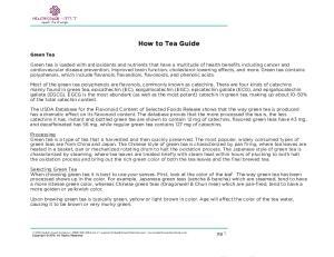How to Tea Guide. Green Tea