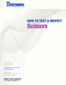 HOW TO TEST & INSPECT
