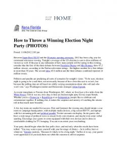 How to Throw a Winning Election Night Party (PHOTOS)