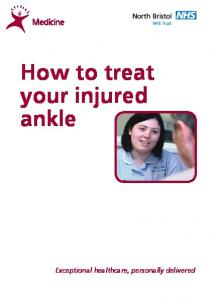 How to treat your injured ankle
