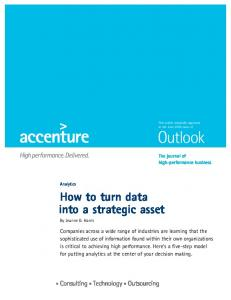 How to turn data into a strategic asset