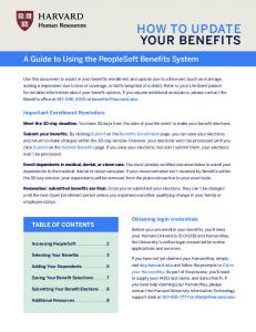 HOW TO UPDATE YOUR BENEFITS