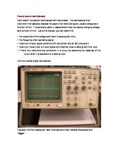 How to use an oscilloscope