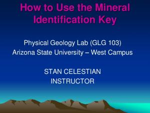 How to Use the Mineral Identification Key