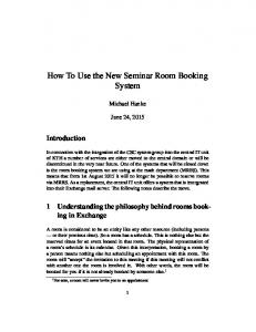 How To Use the New Seminar Room Booking System