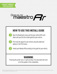 HOW TO USE THIS INSTALL GUIDE