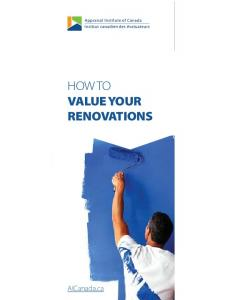 HOW TO VALUE YOUR RENOVATIONS