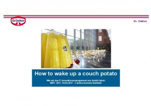 How to wake up a couch potato