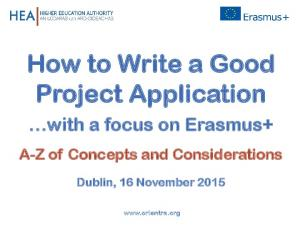 How to Write a Good Project Application
