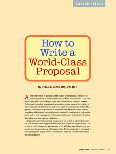 How to Write a World-Class Proposal