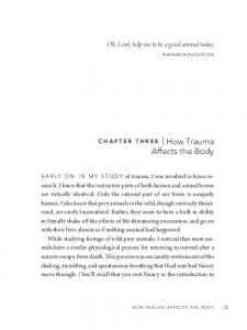 how trauma Affects the body