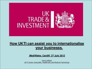 How UKTI can assist you to internationalise your businesss