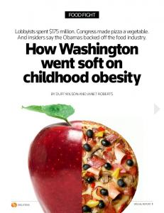 How Washington went soft on childhood obesity