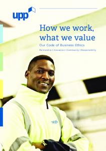 How we work, what we value
