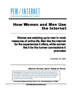 How Women and Men Use the Internet