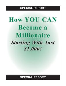 How YOU CAN Become a Millionaire