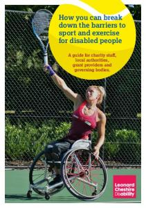 How you can break down the barriers to sport and exercise for disabled people
