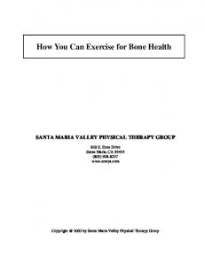 How You Can Exercise for Bone Health