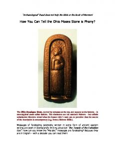 How You Can Tell the Ohio Moses Stone is Phony?