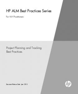 HP ALM Best Practices Series