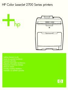HP Color LaserJet 2700 Series printers
